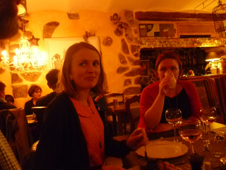 We're looking shifty in this pic but the food is a winner, I promise
