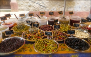The Plan de la Tour olive supplier's spread is bounteous and beautiful