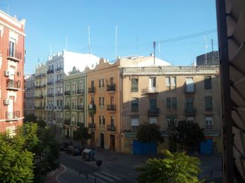 The view from Shenel's balcony in Valencia