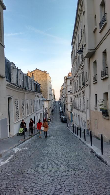 The backstreets of Montmartre on a crisp winter's day